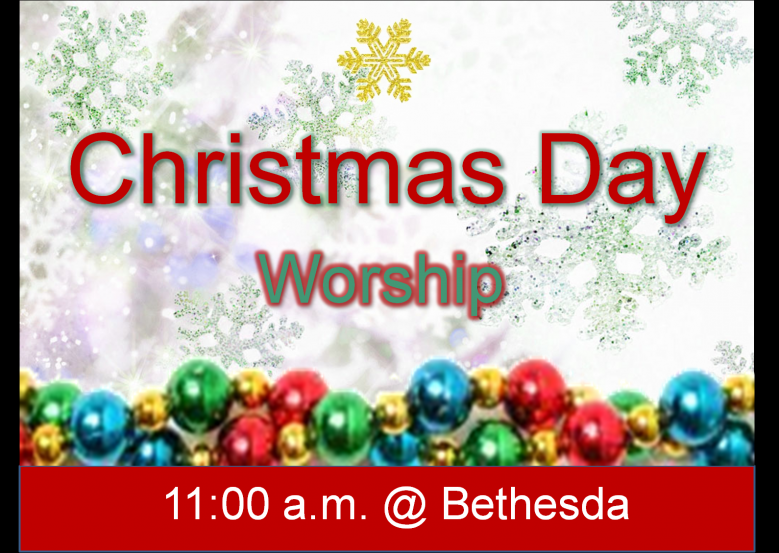 Worship time on Christmas Day