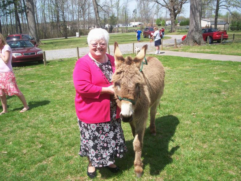 Palm Sunday 09, Canessa and Donkey