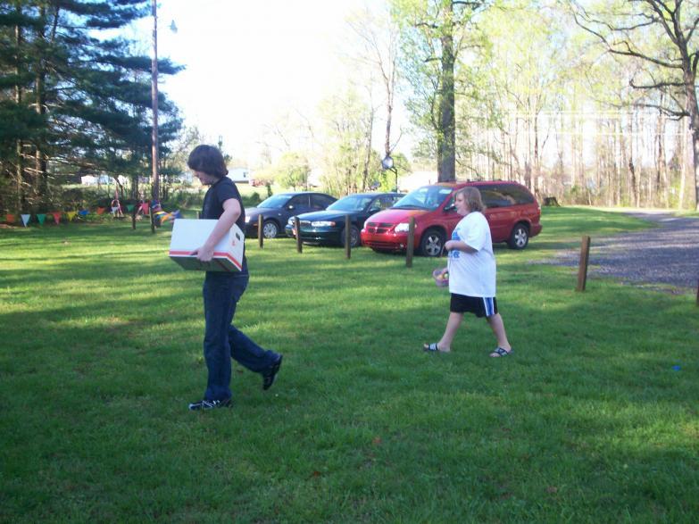 Easter Egg Hunt 09 Justin and Marshall