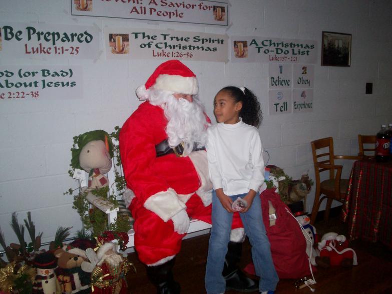 Mkenna and Santa 2008