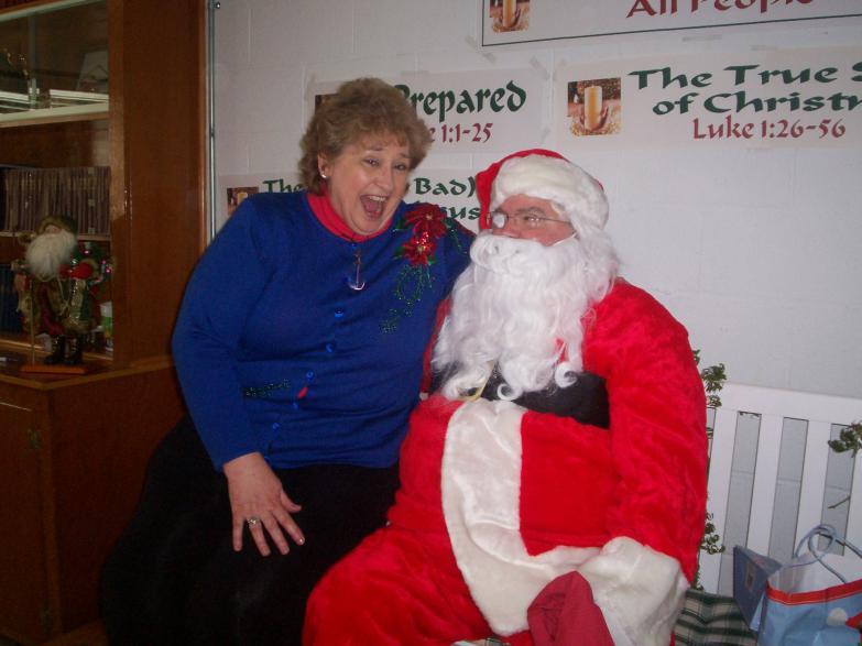 Judy and Santa 2008